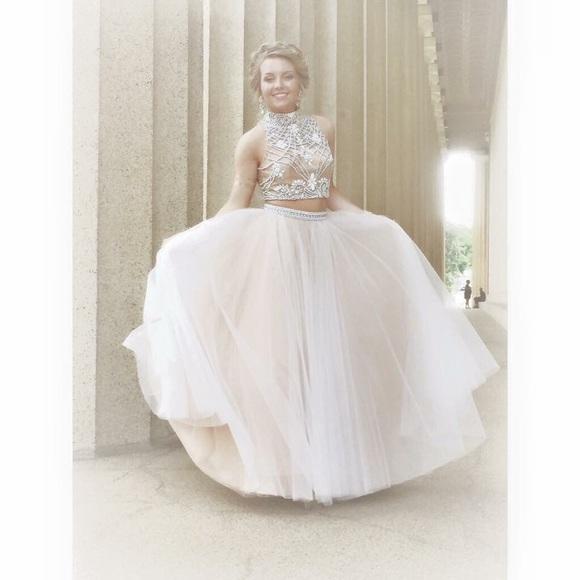 Sherri Hill Dresses | Cream Prom Dress Two Piece | Poshmark